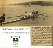 Celebrating 40 Years of Rowing at Bewl - BBRC's first outing July 1977.